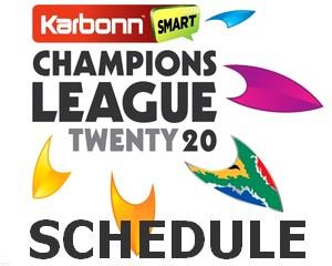 Champions League T20 2012 Schedule