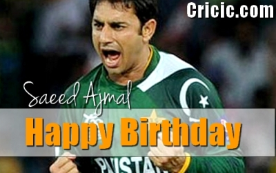 A very Happy Birthday Saeed Ajmal - the greatest spinner of today's cricketing era.